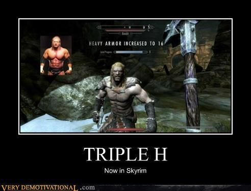 Skyrim with @TripleH. It IS time to play The Game!