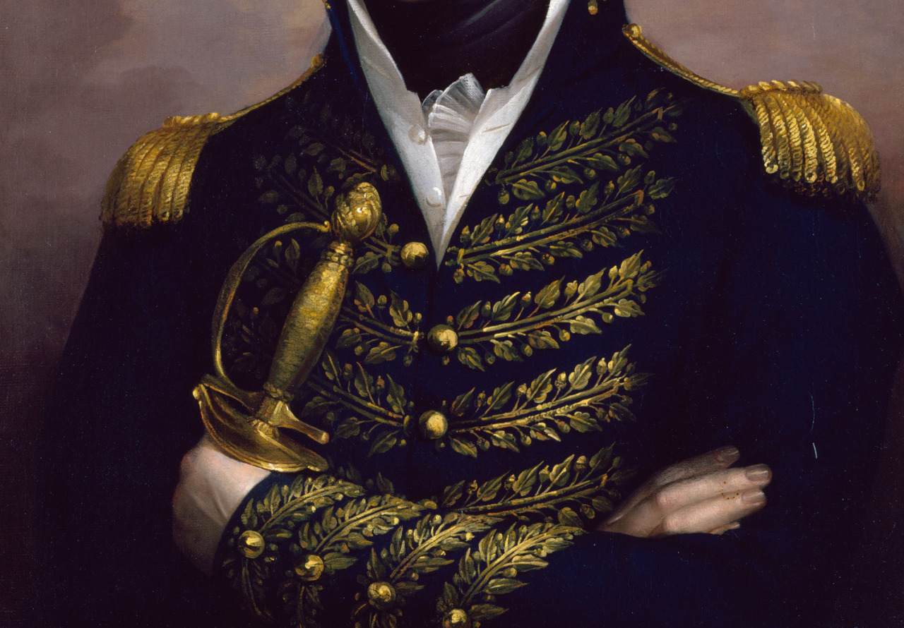 jaded-mandarin:  William Henry Harrison - Rembrandt Peale. Detail.