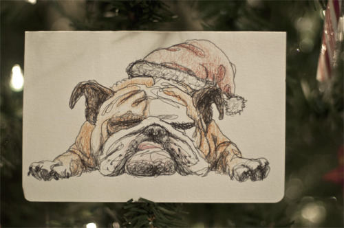 'Merry Christmas to Me' -2012, New York.  Illustrated christmas card for me.