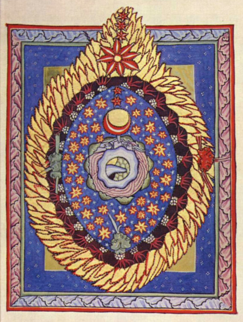 Illumination accompanying the third vision of Part I of Scivias ~1165
