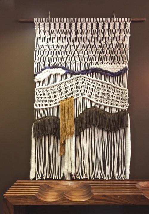macrame weaving wall hanging cottonandwool rope xl handmade crafting fiberart knots
