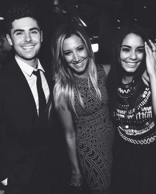Vanessa Hudgens, Ashley Tisdale and Zac Efron at Spring Breakers Premiere in Los Angeles