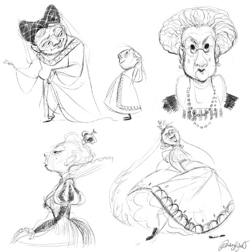 Didn't know what to draw so I ended up sketching some old lady queens haha