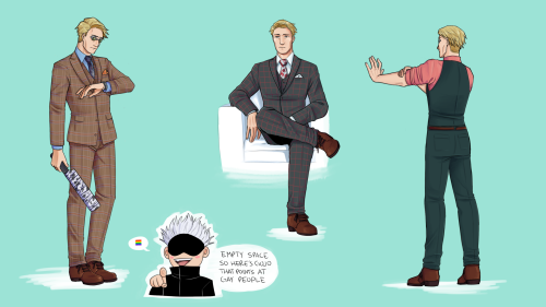 mingdotmp3:(commission info) nanami except he's wearing hannibal lecter suits because ummm :) hannibal lecter suits in question below the cut Keep reading