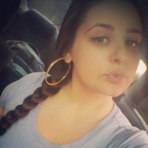  #me #today #braid #brunette #beautiful #sidebraid #kisses #simple