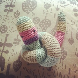 A little snake for our baby snake to be :) #crochet #amigurumi