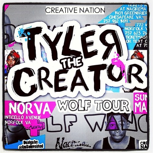 One week from today - Tyler, The Creator will be on our stage! Need tixs? http://norvatickets.com