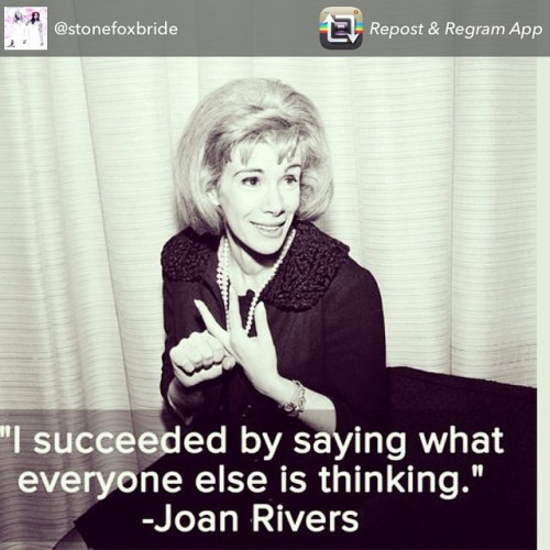 #JoanRivers was a mother, comedienne, actress, entrepreneur, and so much more. Her humor was sharp, but always on point. Her style was bold, but always impeccable. She was truly an inspiration and will be sorely missed. #RIPJoanRivers