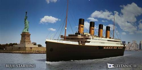 "breakingnews:  Titanic 2? NBC News: Just over a century after the Titanic sank to the bottom of the North Atlantic, an Australian billionaire has officially floated plans to build a successor. Clive Palmer, chairman of Brisbane-based Blue Star Line, revealed blueprints for Titanic II, a 'full-scale re-creation' of the illustrious, if ill-fated, ship at a press conference on the Intrepid Air, Sea & Space Museum in New York. Photo: This handout provided by Blue Star Line shows a computer-generated image of Australian mining tycoon Clive Palmer's plans for a ""Titanic II"" near-replica cruise ship. (Handout / Getty Images)  I saw ""Titanic 2"" already. No need to remake."