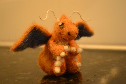 Needle Felted Dragonite by ~feltieflaffy