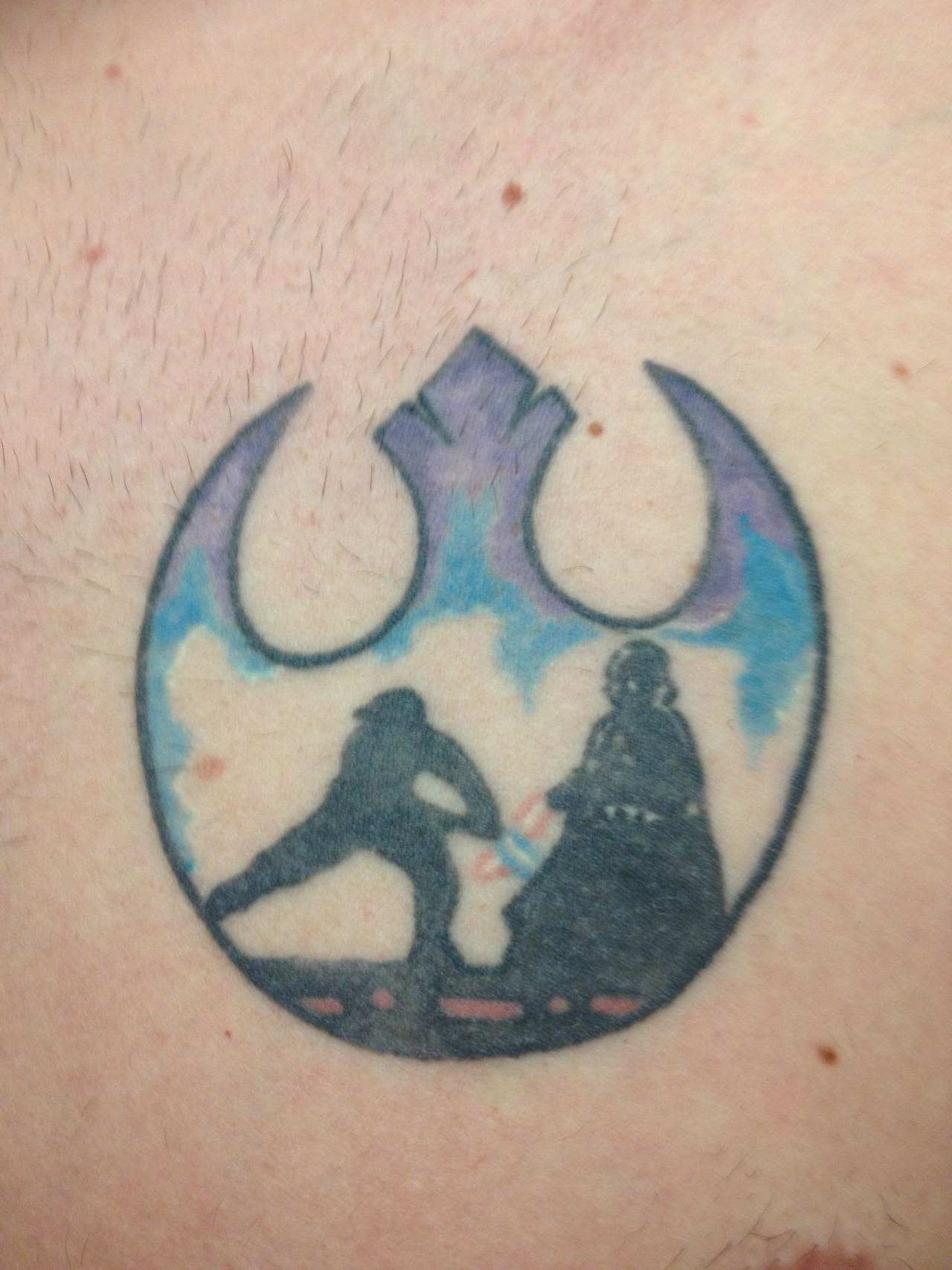 fuckyeahtattoos:  I got this tattoo back in Norman, Oklahoma at Blue Koi Tattoo by Kevin Brandon back in 2010.