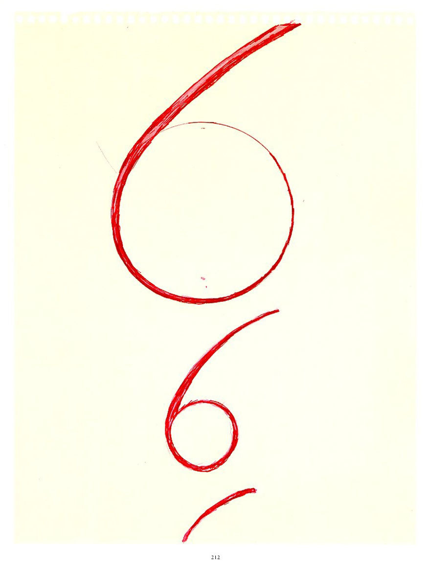 Insomnia drawings by Louise Bourgeois. c. 1994-1995.