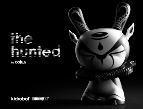 "albotas:  The Hunted: 8"" Dunny by Colus This classy Dunny is a vinyl tribute to the springbok, a southwestern African antelope. The black and white color scheme is super smooth, and the additional ear sculpts and mounting plaque seal the deal. It's limited to 1,250 pieces and will be released on April 11 for $75. Albotip: Male springboks spread out a flap of skin near their tails and jump up and down to attract lady 'boks. This is called pronking. Yes, pronking. Check it: More Kidrobot on Albotas Buy: Kidrobot Futurama Mini Figure"