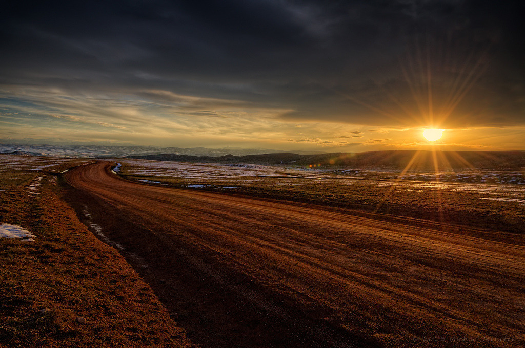 Sundown on the Laramie Foothills by Fort Photo http://flic.kr/p/ei1evZ