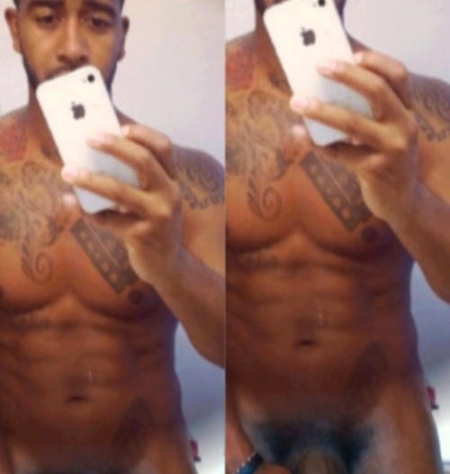 Omarion took a self shot nude.