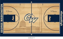 usatodaysports:  Best design in college hoops? George Washington University just unveiled this new court on Twitter. Thoughts?