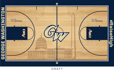 usatodaysports:  Best design in college hoops? George Washington University just unveiled this new court on Twitter. Thoughts?  Loveeeee it.