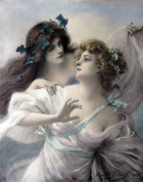 23silence:  Edouard Bisson (1856-1939) - Two Maidens