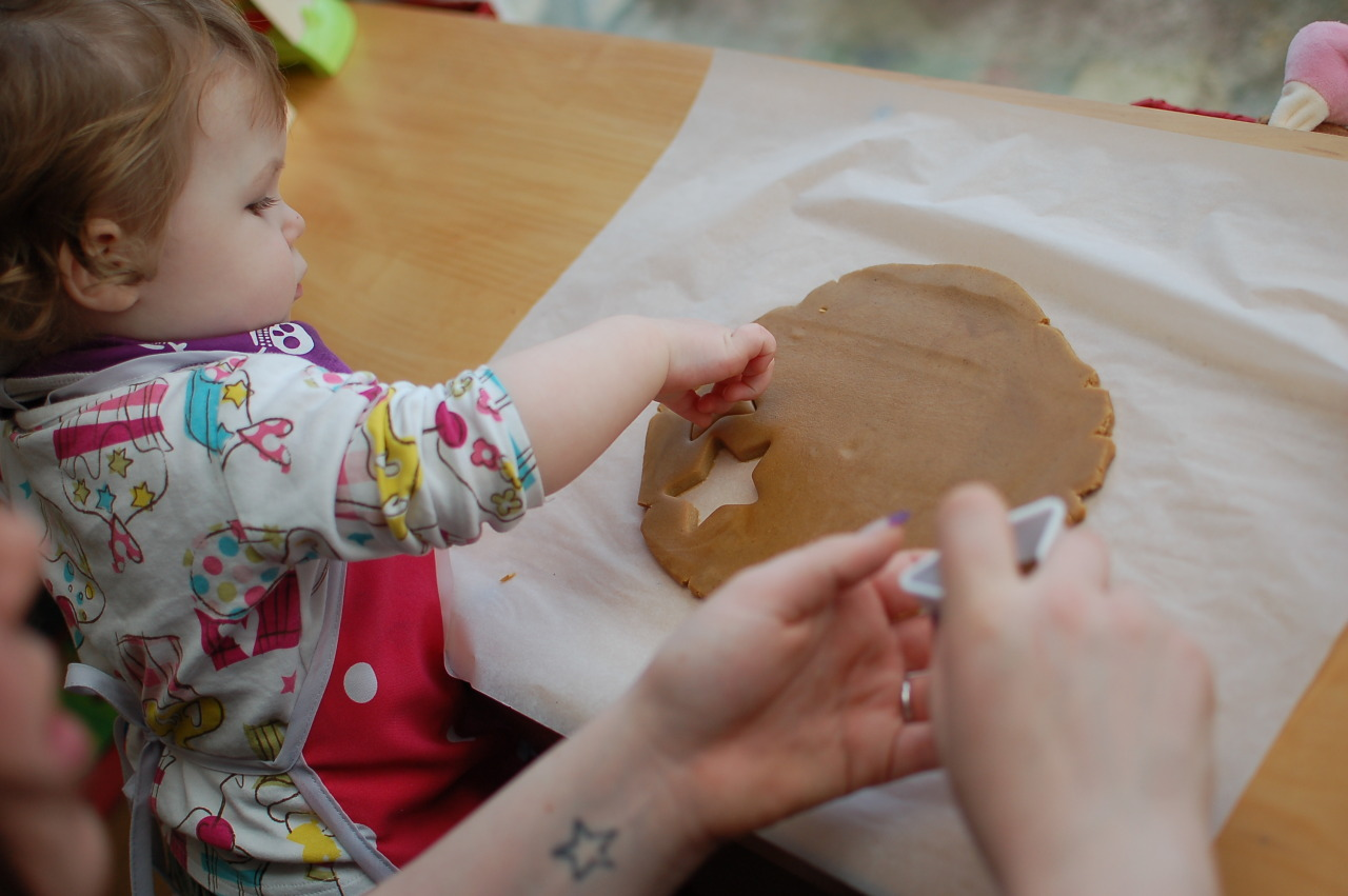 Yesterday, we decided to bake some Gingerbread cookies with Soph. They smelled a bit like feet, but they tasted ace.