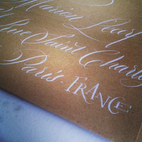 Á Paris! #calligraphy