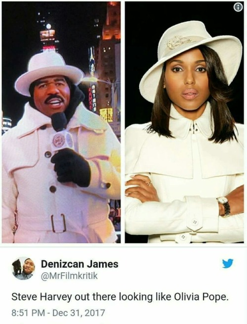 black twitter steve harvey new year& 039;s eve olivia pope kerry washington comparison outfits funny memes dank memes omg lol funny tweets tv show scandal tv outfit new years eve savage i& 039;m crine characters white
