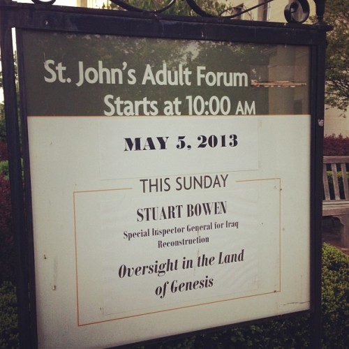 only in DC.  (at St. John's Church, Lafayette Square)