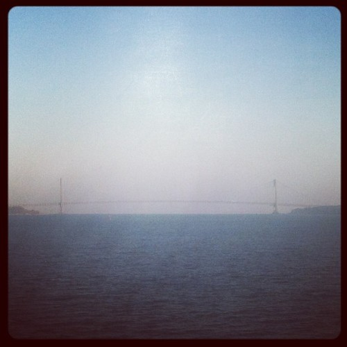 From a distance on the SI Ferry (at Verrazano-Narrows Bridge)