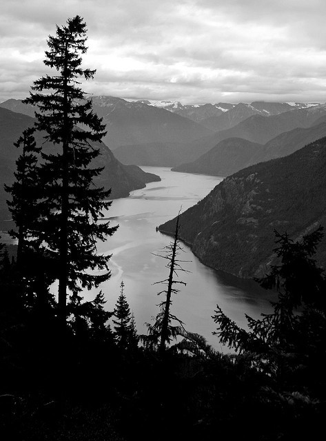 Ross Lake, Black and White by Walkabout Wolf on Flickr.