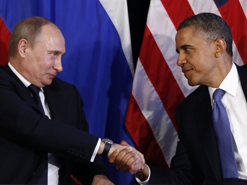 Obama, Putin set up two rounds of talks  U.S. President Barack Obama and Russian President Vladimir Putin on Monday set up two rounds of talks in coming months in a bid to move past a fight over human rights and seek common ground on issues such as Iran, Syria and North Korea. The announcement of an Obama-Putin summit in early September, added to plans for a meeting at a G8 summit in Northern Ireland in June, suggested the two leaders want to revive the momentum from a reset in relations despite tensions over the so-called Magnitsky List. Read more.