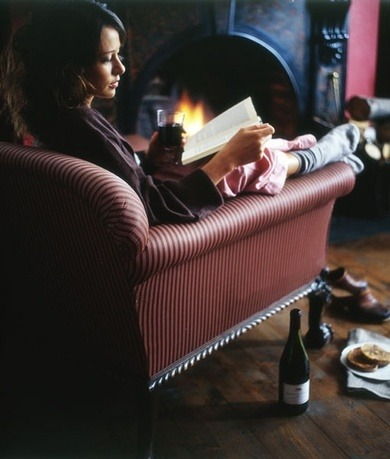 There is no solitary occupation more pleasant than savoring a good book with a delicious glass of Malbec in front of a roaring fireplace