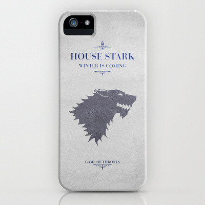 parislemon:  caterpillarcowboy:  (via House Stark - Game of Thrones iPhone Case by Graphicbrain | Society6)  This would almost tempt me to use an iPhone case. Almost.  Add To Cart.