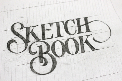 (vía Typeveything.com - Sketch Book by Ged Palmer)