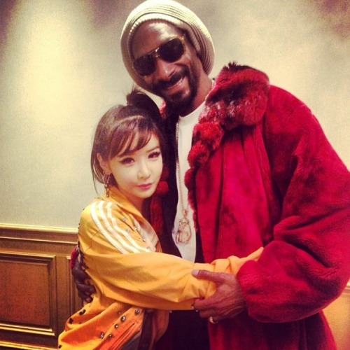 "thepinkpopsicle:  [130504] Park Bom's Instagram Update!  ""With Snoop & Bom☆."""
