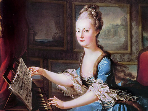 "vivelareine:  Rules for Marie Antoinette When Marie Antoinette departed from Vienna on April 21st, 1770, she was given several pages written by her mother, Maria Theresa—not strictly a letter, but ""rules to be read once a month"" that were meant to guide the dauphine in her new life, both religiously and politically. Some excerpts from Maria Theresa's ""rules"" for her daughter: When you wake up, you will immediately upon arising go through your morning prayers on your knees and read some religious text, even if it is only for six or seven minutes without concerning yourself about anything else or speaking to anyone. You must always conform to French customs and never try to introduce anything new. You must not do anything unusual, nor site our customs, nor ask that they be imitated; on the contrary, you must absolutely lend yourself to what the Court is accustomed to doing. Read no book, even the most indifferent, until you have received your confessor's permission: this is a particularly important point in France because books are published … which, although they are full of agreeable erudition, can nonetheless be pernicious to religion and morals. Ask M. and Mme de Noailles what you must do in every case, demand that they tell you how, as a foreigner who wants to please your new country, you must behave. Answer everyone pleasantly, with grace and dignity: you can if you want to. You must also learn how to say no. Do not take on any recommendations; listen to no one if you want to have peace."