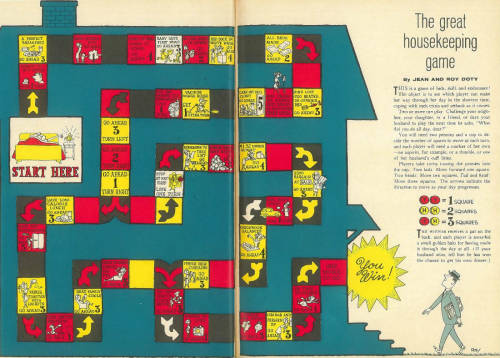 Ladies, Fail Your Families With the Housekeeping Board Game From a 1963 Family Circle