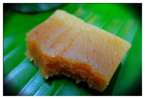 Mysore Pak  A common desert in South India that is extremely rich!!! It is amazing with masala chai!!!  http://en.wikipedia.org/wiki/Mysore_pak  In Gokulam, the bakery at Hotel Vishnu Bhavan is the place to go for great sweets that cost 10INR ($0.18USD)!!!