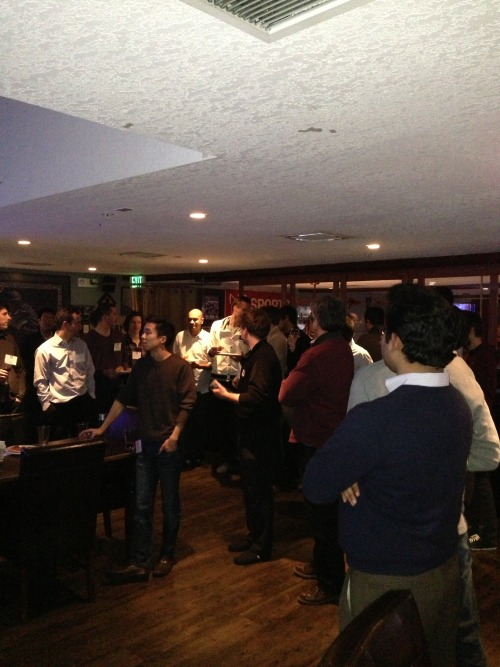 On Tuesday, Highland hosted a group of Stanford GSB'ers at the Old Pro in Palo Alto. The backgrounds of the folks we met varied quite a bit from the canonical MBA profile. We met at least three materials engineers, one console gaming market analyst, and a guy who used to build brain/human interfaces. And, above all they wanted to know how to use their skills in the context of a startup. Excited to see what they are going to accomplish this summer!
