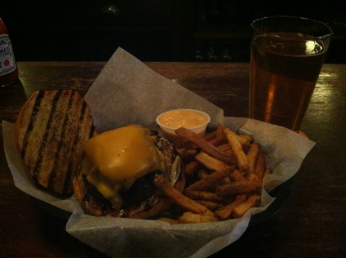 Kennett Square Burger, Fries, Coronado Orange Avenue Wit, Grace Tavern, Philadelphia, PA