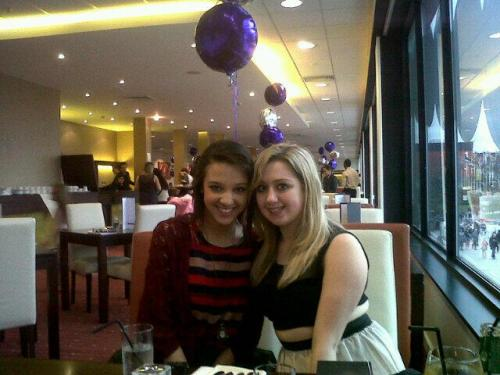 me and jess at the VIP lounge before going to see One Direction on the 17th April 2013. ily.xx