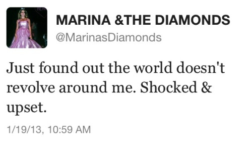 Marina, you understand social sass like no one else #sexyeah