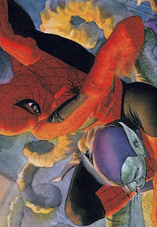 Spider-Man v Green Goblin from MARVELS by Alex Ross