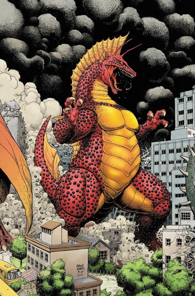 ryallsfiles:  Titanosaurus by Art Adams. Colors by Peter Doherty.