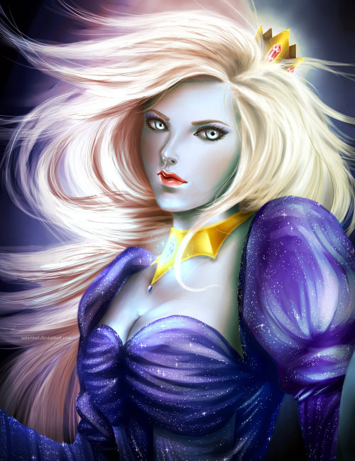 youngjusticer:  Whoa. Ice Queen, by sanctinel. On a scale of one to fifty, how awesome is this Ice Queen?
