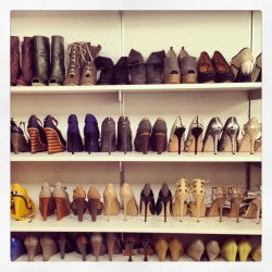 shoe moment. Lela Rose's closet