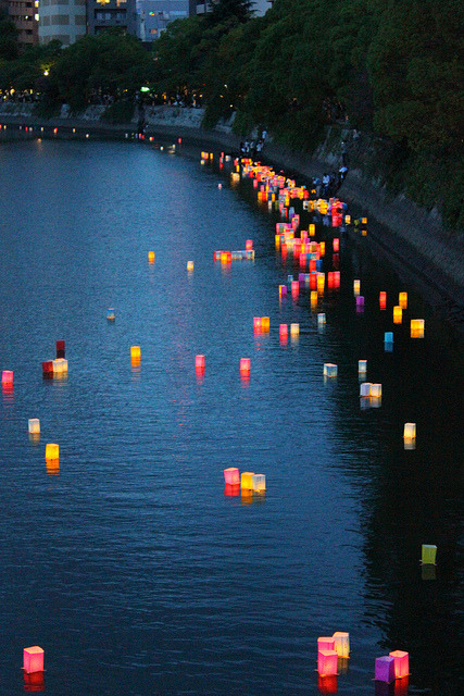japanlove:  Hiroshima Lantern Festival by rileyroxx on Flickr.