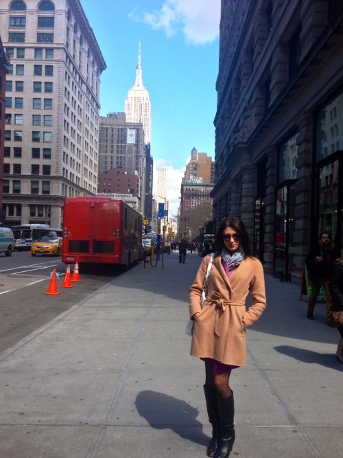 My glamorous* sister interviewing for summer internships in NYC!*Smart & Powerful, too.
