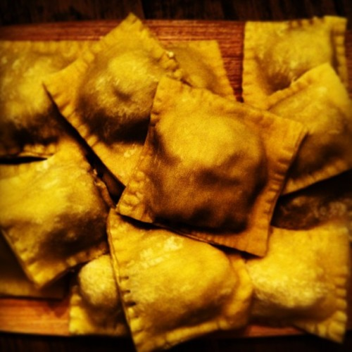I've been on a fresh ravioli kick lately. This week: lamb. You feel me?
