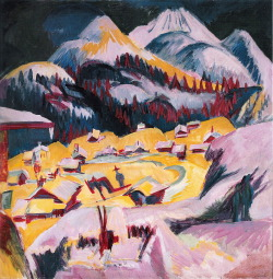 german-expressionists:  Ernst Ludwig Kirchner, Frauenkirch in Winter (Frauenkirch in Winter), 1918-1919