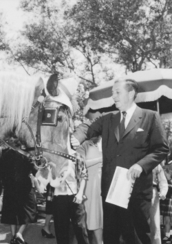 yourland:  Walt & Horse on Main Street, 1957