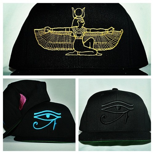 "5 ""Egyptian Gold"" Isis Snapbacks Left,  5 ""Black Out Horus Snapbacks Left and 6 ""South Beach"" Horus Snapbacks Left Almost Gone!!! www.Rich.Bigcartel.com"